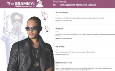 MWAH! Alumnus Joshua Welton Nominated for a Grammy